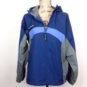 Columbia Women's Hooded Raincoat Windbreaker -N720